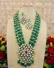 Indian Bollywood Gold Plated Kundan Necklace & Earring Women Jewelry Set