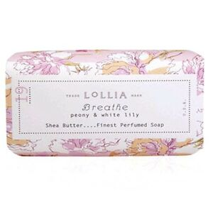 Lollia Breathe Bar Soap Perfumed with Peony & White Lily Shea Butter