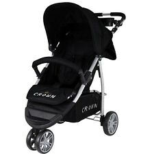 Crown Pushchair 3-rad-buggy Sport Jogger Colour Black New Model ST712