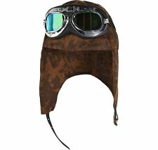 Aviator Hat and Goggles Halloween Costume Accessories for Adults Plane Flying
