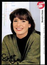 Sandra Voss Autogrammkarte Original Signiert ## BC 27069