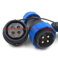 SD28 4pin waterproof connector,IP68 25A250V High Voltage Power Cable plug socket