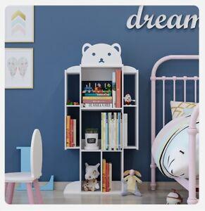 Bookshelves kids bookshelf Robot bookshelf white Bookcase Book Storage