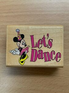 LETS DANCE, MINNIE RUBBER STAMP DISNEY CHARACTERS MICKEY MOUSE RUBBER STAMPEDE