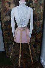 Original Victorian c. 1850's Wire Cage Crinoline Petticoat Hoop Needs Some TLC
