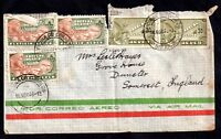 Mexico 1948 Airmail multi stamp postal history cover to UK WS8272