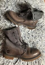 Timberland Brown/grey High Boots Womens Girls Vgc Fits Size Uk 3