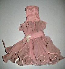 """18"""" Supersize Barbie Vintage Fashion Outfit Gown Dusty Mauve Pinkish Purple OOAK"""