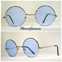 Circle Round Vintage Style Hippie 50s 60s Sunglasses  Festival Geek Retro Cyber