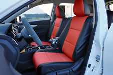 BLACK/RED VINYL CUSTOM MADE FIT FRONT SEAT COVERS FOR NISSAN ROGUE 2013-2017