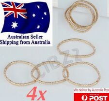 Women's Lady Elastic Metallic Gold Hair Ties Bands Ponytail Holder Accessories