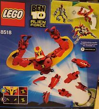 Lego 8518 Ben 10 Red Alien Force Jet Ray Cartoon Network Free Gift wrap NEW