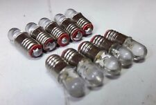 10X 12V 20mA E5 Les LED miniatura RICAMBIO VITE CASA DI BAMBOLE LAMPADINE
