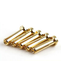 GOLD Stecker 4 mm gestiftet Goldkontakt Winkelstecker 10 Stück Hype 082-6140 700