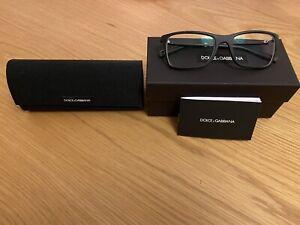 Dolce & Gabbana Mens Black Rim Glasses My Opic Distance Lenses R-2 L-1.75