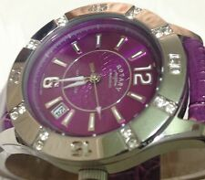Rotary Ladies  Diver Dolphin Standard Purple Leather Watch LS03437/51