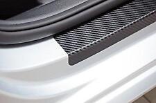 3D Efecto De Fibra De Carbono Protector de paso de la Puerta Umbral Protectores Se Adapta a Asiento (02)