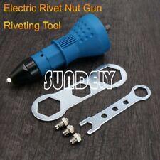 AU Electric Rivet Nut Gun Cordless Riveting Drill Adapter Riveting Tool Insert