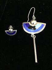 EMBLA Norway Vintage Mod Sterling Silver Enamel Earrings