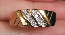 New Kay Jeweler 14K S10.25 1/4ct Diamond Mens Wedding Band Ring Gold Men's