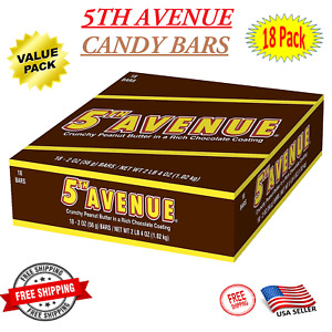 HERSHEY'S 5th Avenue Chocolate Peanut Butter Candy Bar (Pack of 18) - On Sale