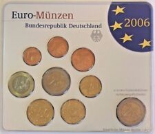 2006 A Germany Official Euro 9 Coins Set Special Edition Berlin Mint Deutschland