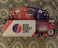 All Star Beer Basket Cups (20) Cups New