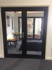 ALUMINIUM FRENCH DOOR 2 PANEL, NEW 1800 x 2100h, BLACK, IN STOCK