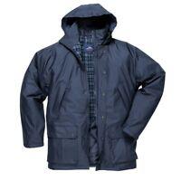 Portwest Dundee Quilt Lined Jacket Outdoor Waterproof Zipped Work Coat S521