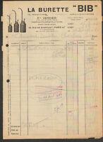 """PARIS (XX°) BURETTE BIB / Fabricant Constructeur """"Ets. VERDIER"""" en 1948"""