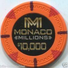 12 pc 12 color set 13.5 gm MONACO MILLIONS poker chip sample set #237