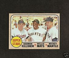1968  Topps # 490 Super Stars ( mantle mays ) NM-MT