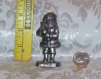RB RICKER PEWTER SANTA CLAUS COLLECTIBLE PEWTER FIGURINE 3 AND 3/4 INCHES TALL