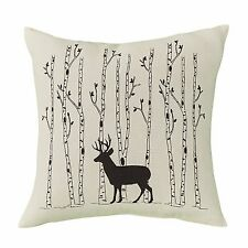 """Park Designs Deer & Birch Trees 16"""" Pillow Cover"""