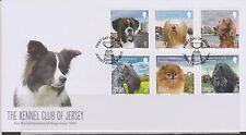 GB - JERSEY 2013 Kennel Club of Jersey - 125th Anniversary SG 1726/31 FDC DOGS