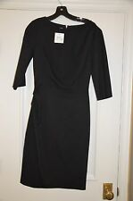 MOSCHINO CHEAP AND CHIC Black Twist Dress Size 44 Small