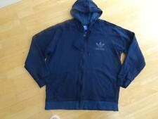 ADIDAS mens navy blue hooded zip thru jumper hoodie XL AUTHENTIC