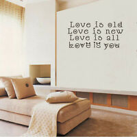 Removable Valentine's Wall Sticker Vinyl Decal Art Mural Home Living Room Decor