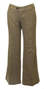 Banana Republic Femmes Marron Tweed Légère Évasé Taille Moyenne Pantalon Sz 0