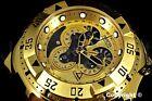 Invicta Reserve Excursion Master Calendar 18K Gold Tone Swiss Made Chrono Watch