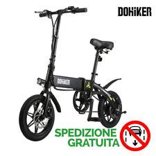Nero Bicicletta Elettrica Pieghevole,Velocità 25km/h Unisex Adulto con USB Port