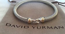 David Yurman 18K Yellow Gold & Sterling 5mm Cable Classics Buckle Hook Bracelet