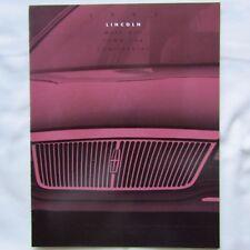 LINCOLN Mark MK8 VIII Town Car Continental USA American Market Brochure 1993