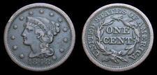 USA 1848 Large Cent Braided Hair Very Fine 20
