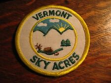 Girl Scout Jacket Uniform Patch - Vintage Washington Vermont Acres Cabin Badge