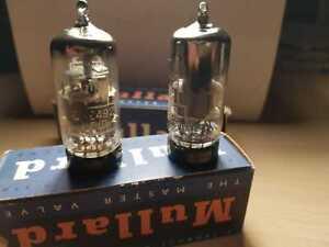 1 pair of Mullard CV2492 E88CC audio tubes valves NOS