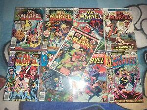 Ms. Marvel Lot #1, 8, 10, 12, 15, 18, 21-23 1st Appearance Of Mystique