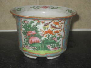 ANTIQUE CHINESE EXPORT  FAMILLE ROSE CANTON PLANTER