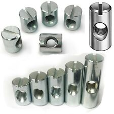 M4 M5 M6 M8 M10 Cross Dowel Barrel Nuts Centre Thread Furniture Unit Bed Cot