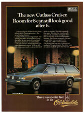 1984 OLDSMOBILE Cutlass Cruiser Vintage Original Print AD - Woodie car photo ca